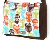 Brown Swedish Owl MESSENGER ipad Laptop Diaper BAG