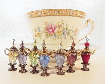 Tea Cup Charm, Tea Party Favor, Tea Ball, Tea Strainer