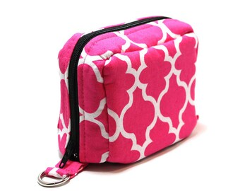 Essential Oil Case Holds 6 Bottles Essential Oil Bag Pink and White Lattice