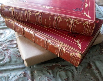 Rare and Beautiful Antique History of English Literature Books, 1874, You Pick Volume, Lower Price