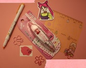 Pink Heart Deco Correction Tape White Out Kawaii