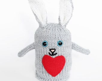 Plush toy, knitted bunny rabbit, soft toys, hand knitted toys, gift for children, Easter bunny, bunny plush toy, knitted toys