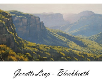 Blue Mountains Painting Govetts Leap Mountain paintings by listed artist