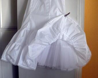 Bridal Gown Crinoline SLIP - Elastic Waist and Back Zipper