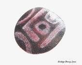 Vintage Handmade Copper Pendant, Metal / Enamel