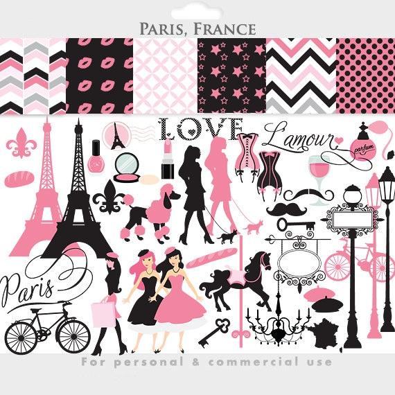 Paris Clipart Frankreich Clipart Eiffelturm Französisch   {Französische küche clipart 52}