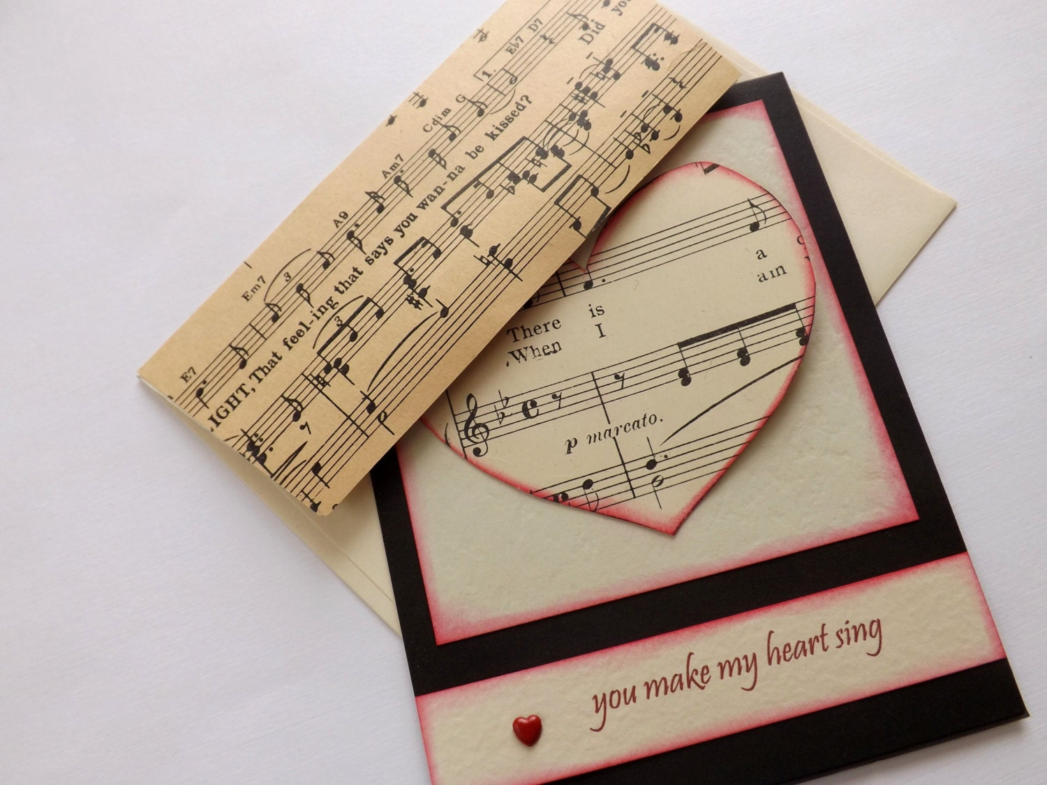 you make my heart sing valentines you make my sing s day card by 7949