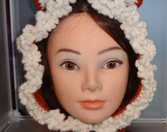 Fox, Wolf, or Polar Bear Hat,Made to Order