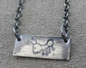 Ant Pendant- Silver Necklace