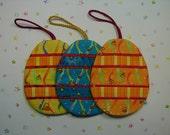Easter Egg Ornaments - set of 3 (EEO3B)