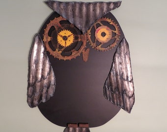 Owl Chalkboard Recycled Materials