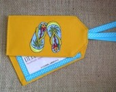 Luggage Tag, Flip Flops Luggage Tag, Luggage Tags