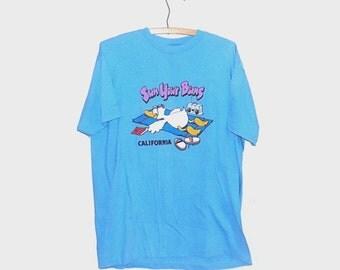 1980s t shirt / vintage 80s tshirt / extra large xl / travel / California Sun Your Buns T-Shirt