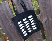 Shopping Bag with many Guinea Pig Print in black/white or green/white