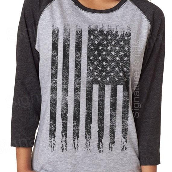 American Flag Shirt Womens T Shirt Usa Vintage By
