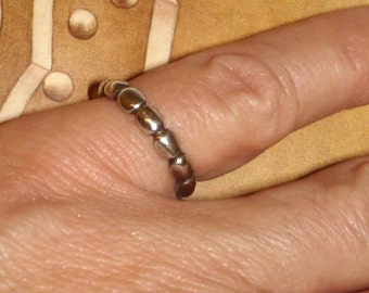 vintage sterling silver ball band ring size 5