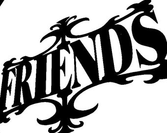 FRIENDS Intricate 7 X 10 inch Die Cut Paper Cutting