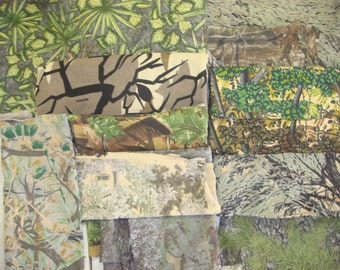 Camouflage camo t-shirt knit fabric 50 cotton 50 polyester awesome known brands