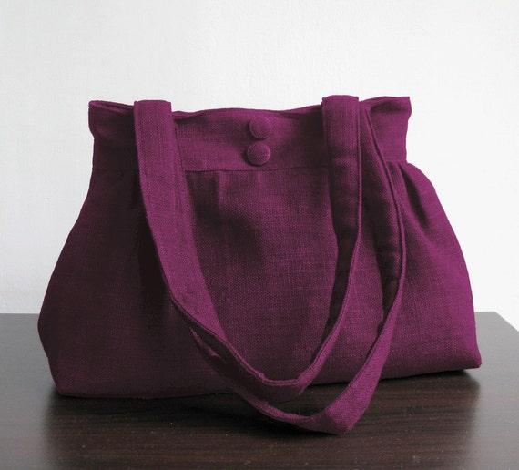 sale deep purple hemp cotton purse shoulder bag diaper. Black Bedroom Furniture Sets. Home Design Ideas