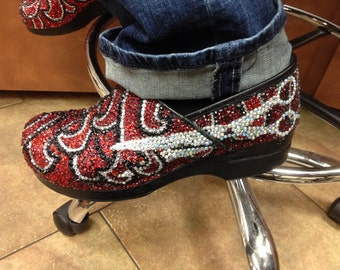 Custom rhinestone women's shoes