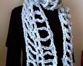 Crochet Pattern Chunky cowl or scarf - Super fun, easy project, crochet wrap pattern, extra long, urban uptown scarf, Ten Foot Trellis Scarf