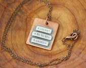 Reserved for Chynna - Personalized Copper Wide Name Plate Necklace  (E0482)