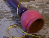 Toy Ball & Cup Game Purple and Pink - Handcrafted Wooden Toy Ball and Cup Game