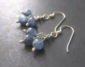 Kyanite Earrings, Blue Kyanite Chandelier Earrings, Sterling Silver Earrings