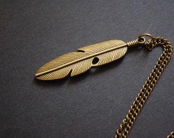 feather bird necklace