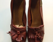 Vintage Bass High Heel Loafers, size 8