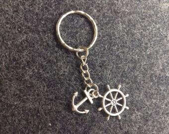 Anchor and Rudder Keychain