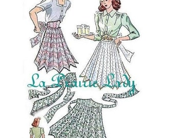 Repro Vintage Half Apron 40's PDF Pattern No 21 Available in M-L-XL