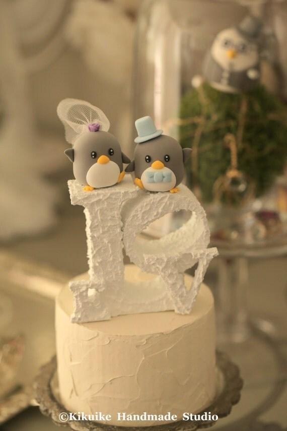 Penguins  Wedding Cake Topper (K429)