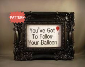 PDF/JPEG You've Got To Follow Your Balloon (Pattern)