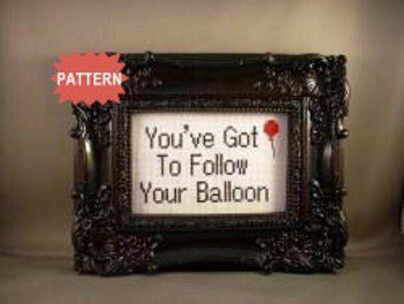 PDF/JPEG You've Got To Follow Your Balloon (Pattern)