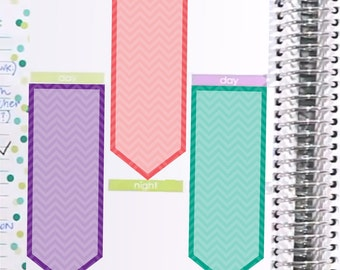 Chevron Rainbow To-Do Checklist Sticker Printable - Instant Download - to fit your Erin Condren Weekly Boxes