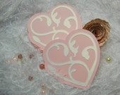 Large Decorative Paper Piecing Valentine Heart Confetti For Scrapbook Layouts, Journals, Banners, Card Making
