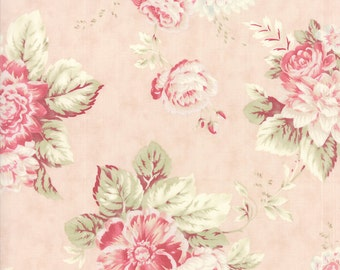 Quilting Cotton fabric | 3 Sisters Favorite | Ballet Slipper Pink Roses 3765 12