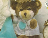 1980s Simplicity 7637 Vintage Sewing Pattern Teddy Beddy Bear Soft Toy