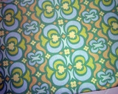 Amy Butler Fabric, Yardage, Midwest Modern, Green,Blue,Yellow, Cotton,Quilting Fabric, Apparel, Home Decor