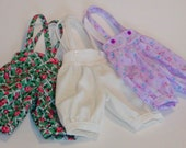 Short Knickers w/Suspenders- U Choose the fabric!  Wiggs MSD & similar MSD BJDs