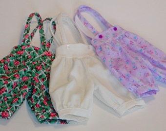 Short Knickers w/Suspenders- U Choose the fabric!  Wiggs MSD & similar MSD BJDs