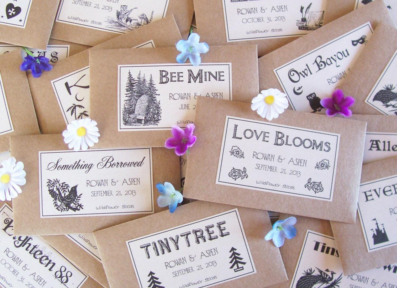 100 wedding favor seeds flower seed favors by fairylandbazaar. Black Bedroom Furniture Sets. Home Design Ideas