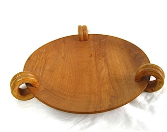 Vintage Wood Serving Plate