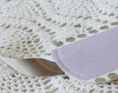 Lilac and Gray - Luggage Tag