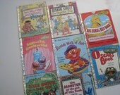 Vintage Golden Books - 1970s Sesame Street - set of 8