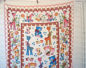 FOUND IN SPAIN -- adorable toddler bedspread with animals