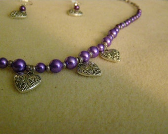 Hearts & Pearls Jewelry Set