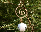Bronze Swirl Jingle Bell Ornament