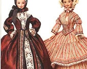 "Circa 1840 & 1850: 11 1/2"" Fashion Doll Sewing Pattern Retro Clothes Vogue 7352 Shipping to US INCLUDED"